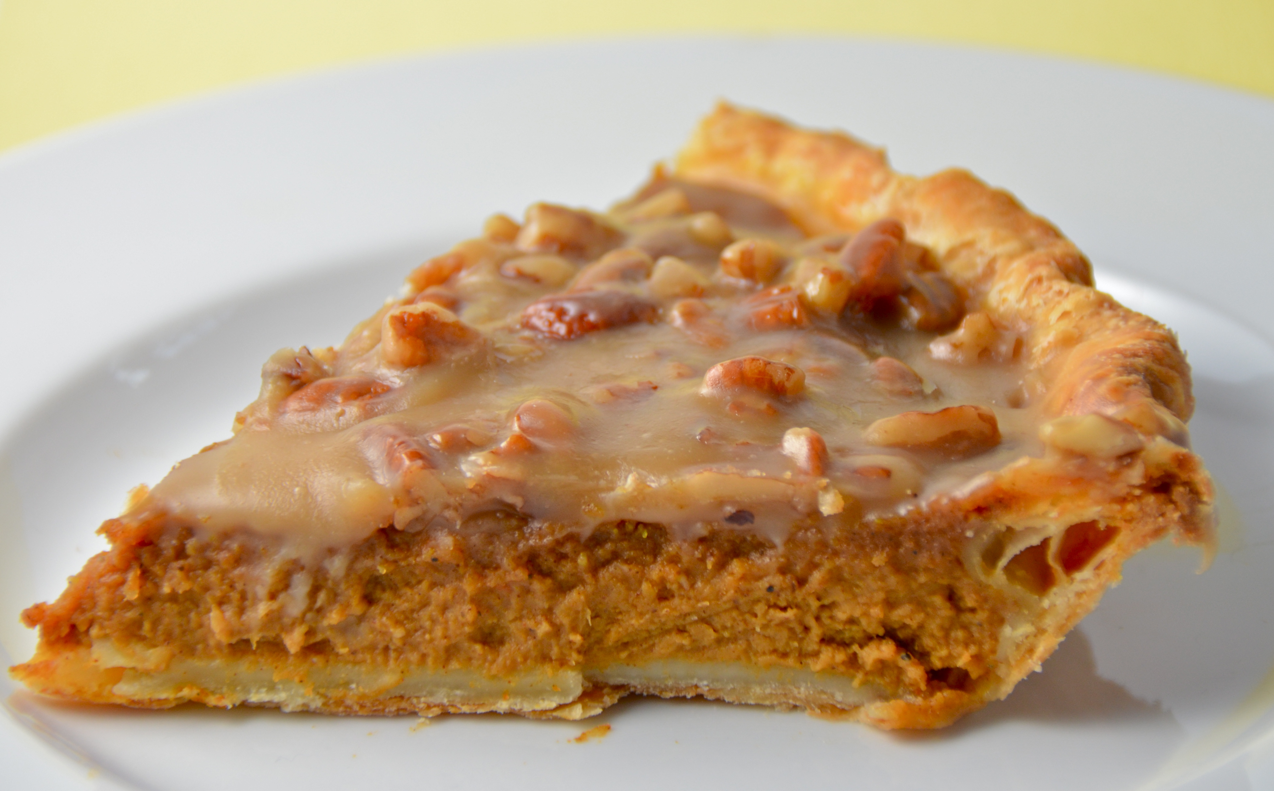 Pumpkin Pie With Pecan Praline Topping. Listening To Solid Gold Balls ...