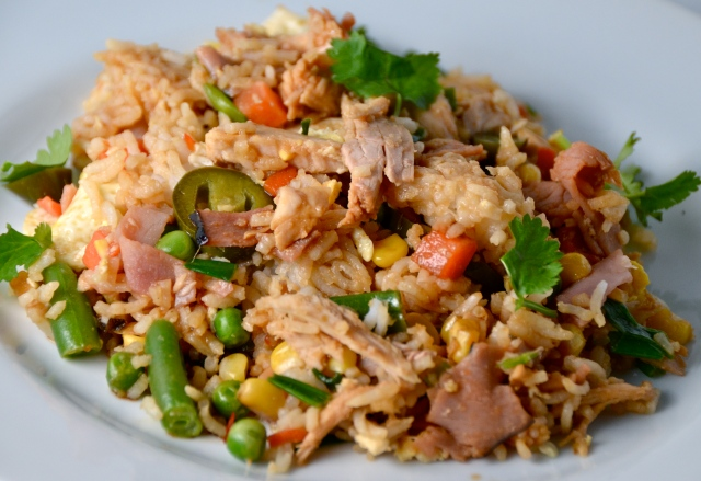 Speedy Spicy Leftover Turkey Fried Rice