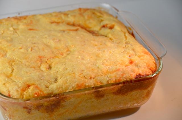 Chili Beef Corn Bread Casserole