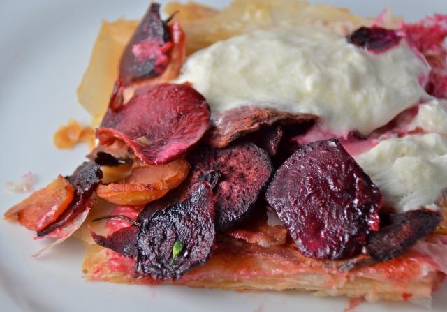Beet And Burrata Tart