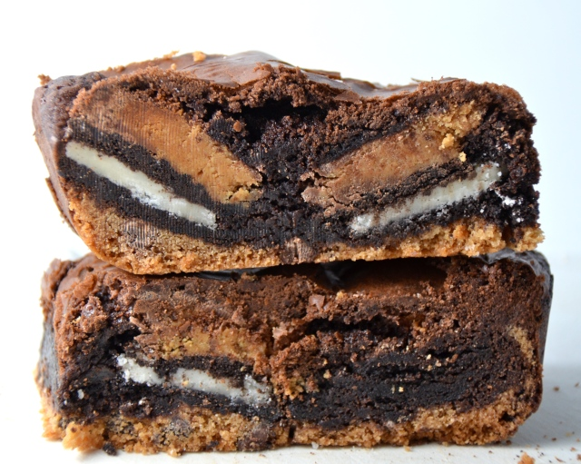 Ultimate Oreo Peanut Butter Cup Brownies