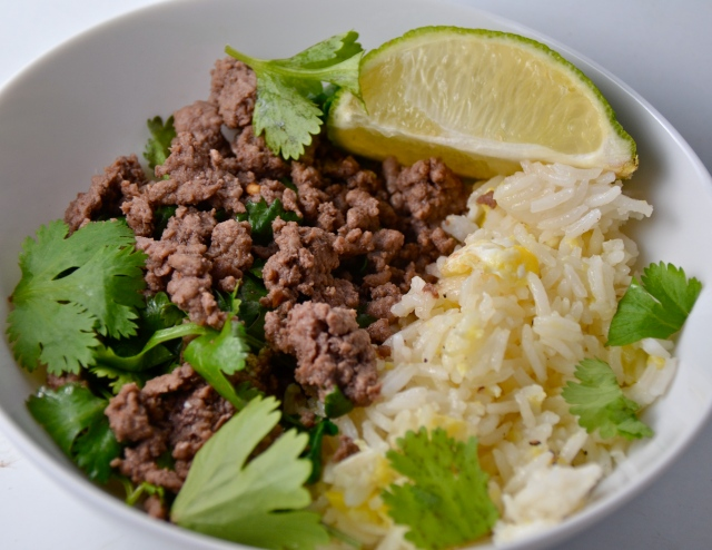 Thai Beef Larb With Egg Fried Rice