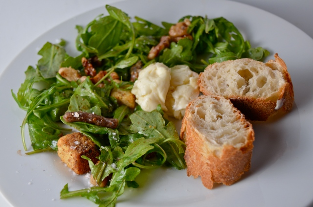 Whipped Brie Salad With Dates And Candied Walnuts