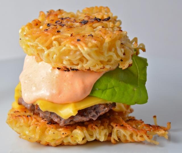 Ramen Cheeseburger