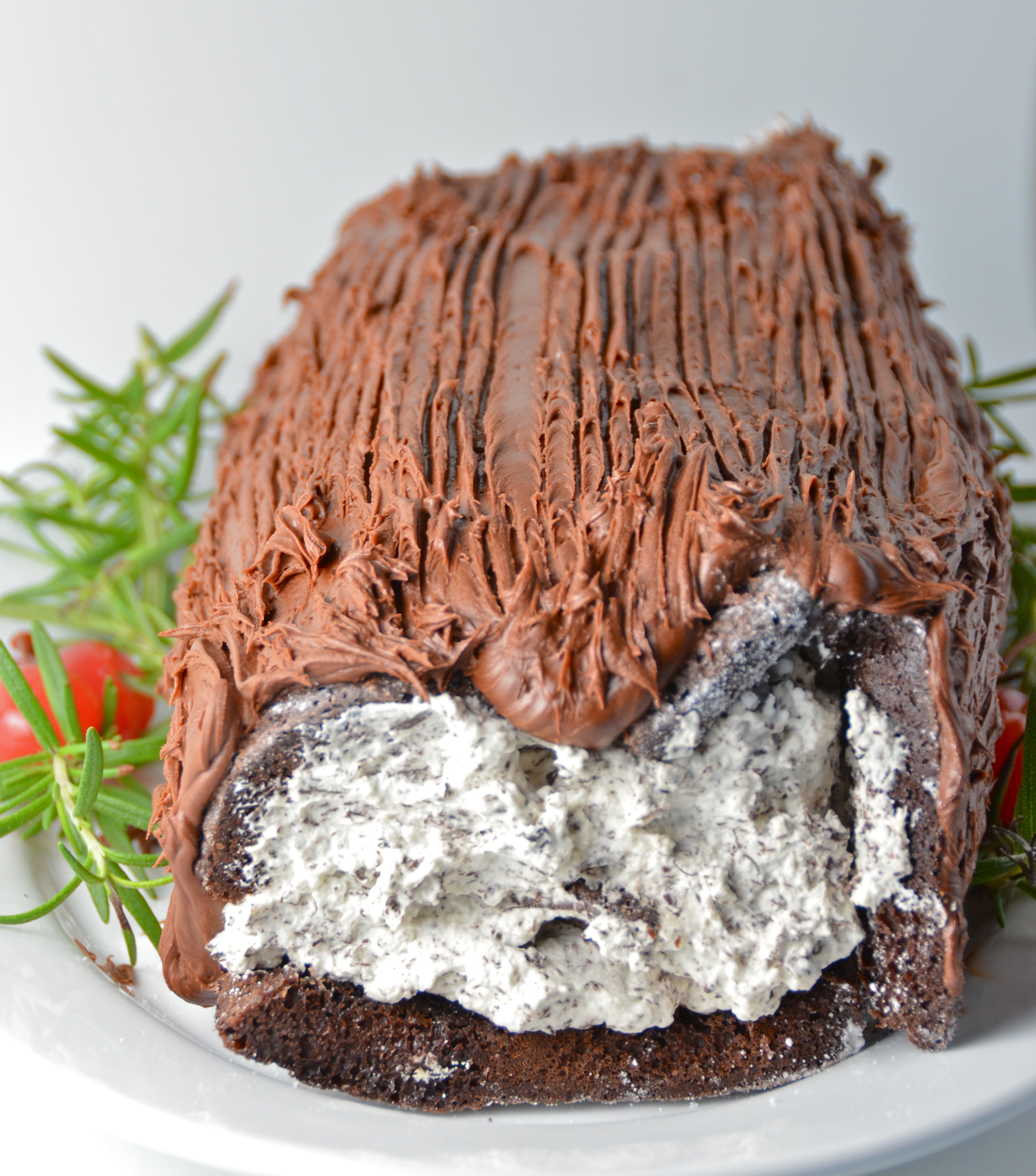 Easy Chocolate Yule Log. Rocking Out With The Yule Logs. | I Sing In ...