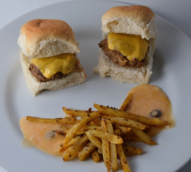Party Time Mini Cheeseburgers With Jerk Spiced Fries