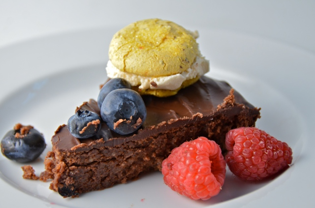 Fallen-For-Chocolate Torte With Lemon Meringue Pie Macaron