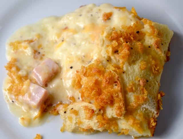 Double-Cheese Ham Soufflé