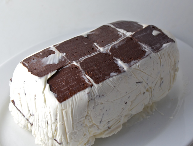 Frozen Mint, Chocolate  And Pecan Cream Terrine