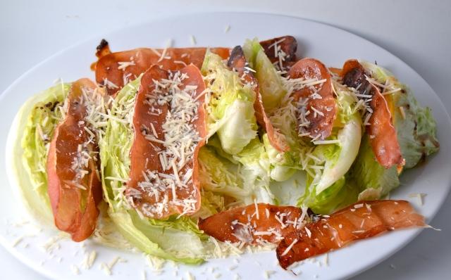 Iceberg Salad With Crispy Maple-Glazed Prosciutto