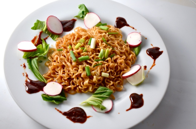 Ramen Noodles With Sweet And Spicy Korean Chili Sauce