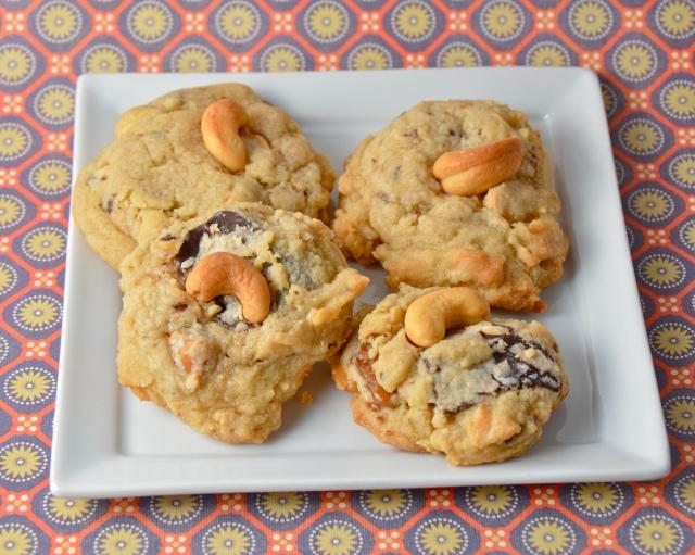 Salted Caramel Chocolate Chunk Cashew Cookies