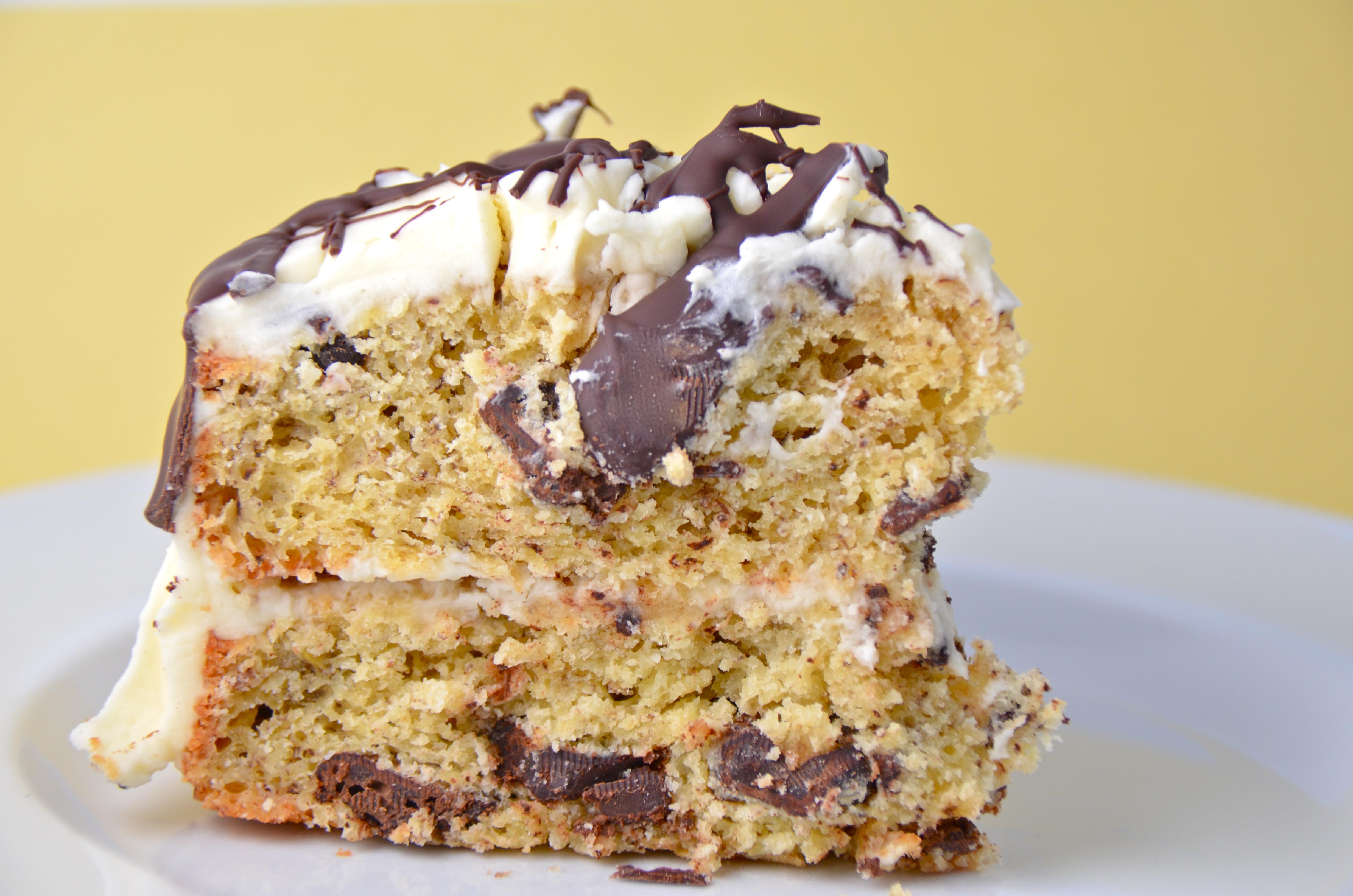 Banana Chocolate Chunk Cake With Rum Cream Cheese Icing ...
