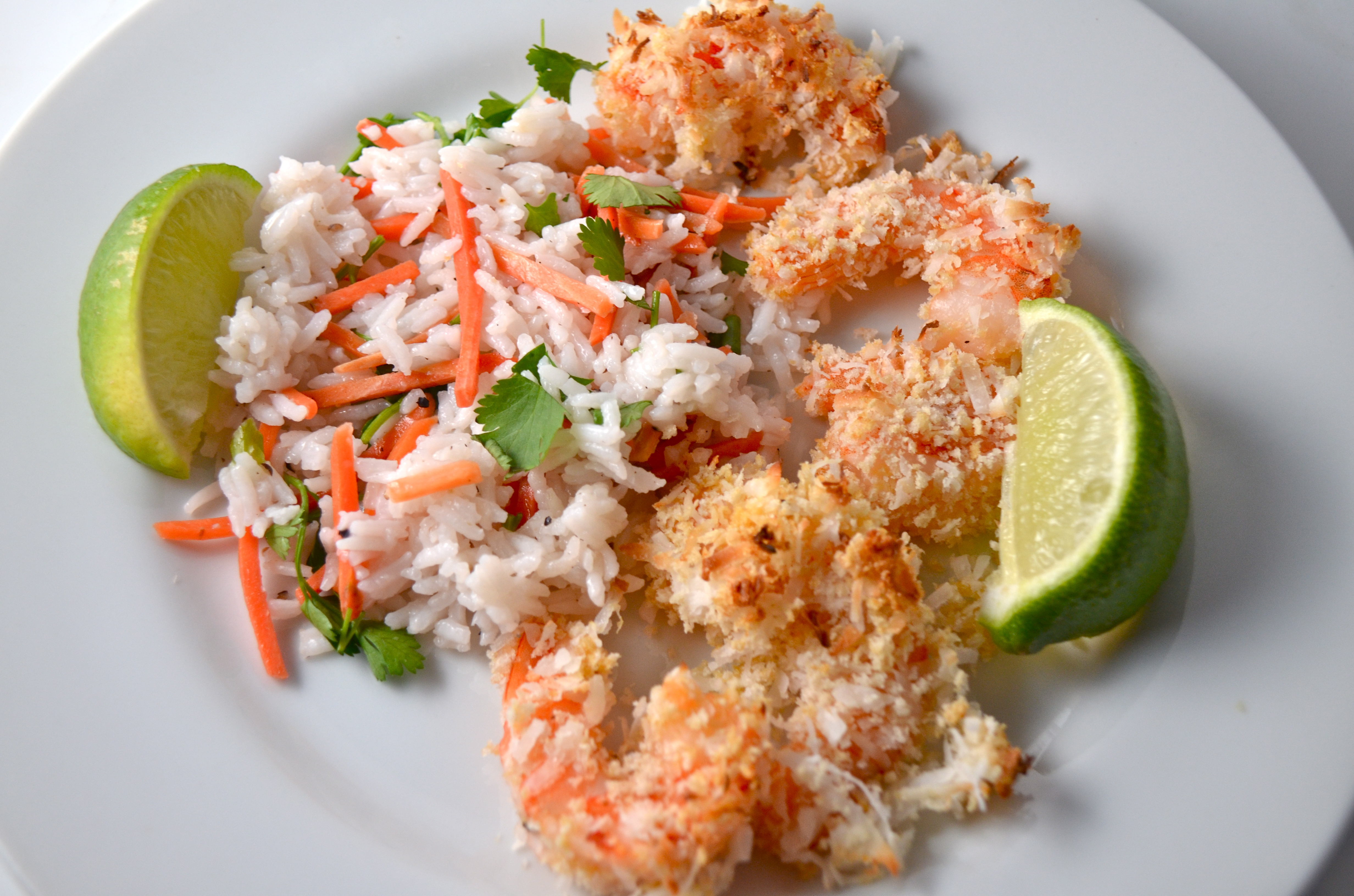 Baked Coconut Shrimp With Tropical Rice. New Music From ...
