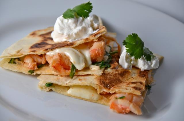 Zesty Shrimp Quesadillas