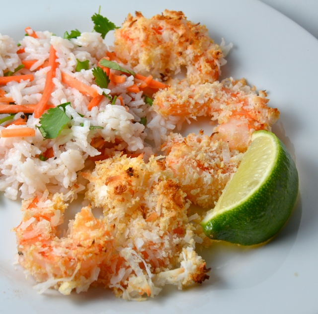 Baked Coconut Shrimp With Tropical Rice