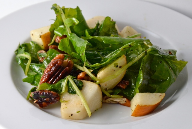 Kale, Pecan And Pear Salad