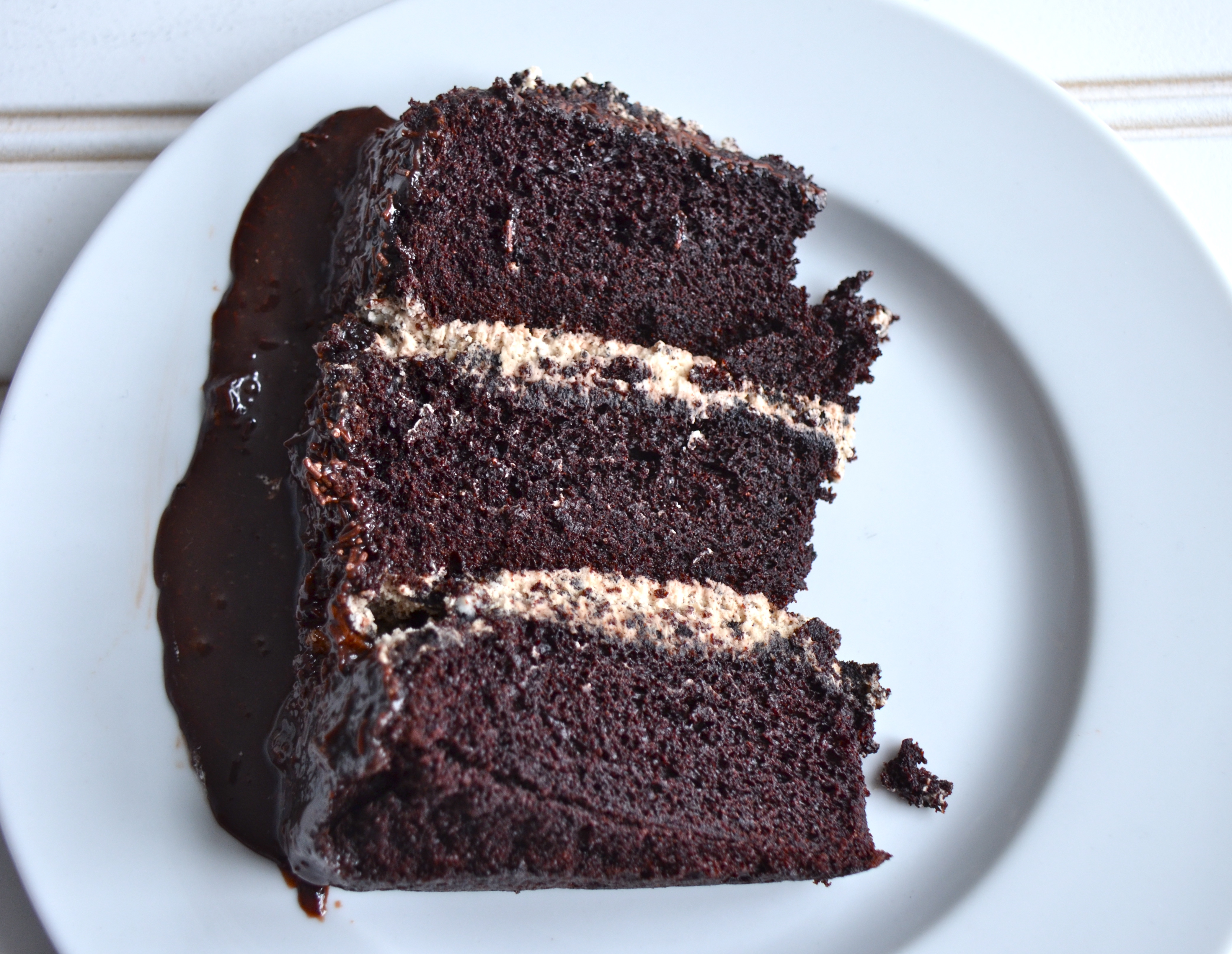 Chocolate And Cream Cake Topping