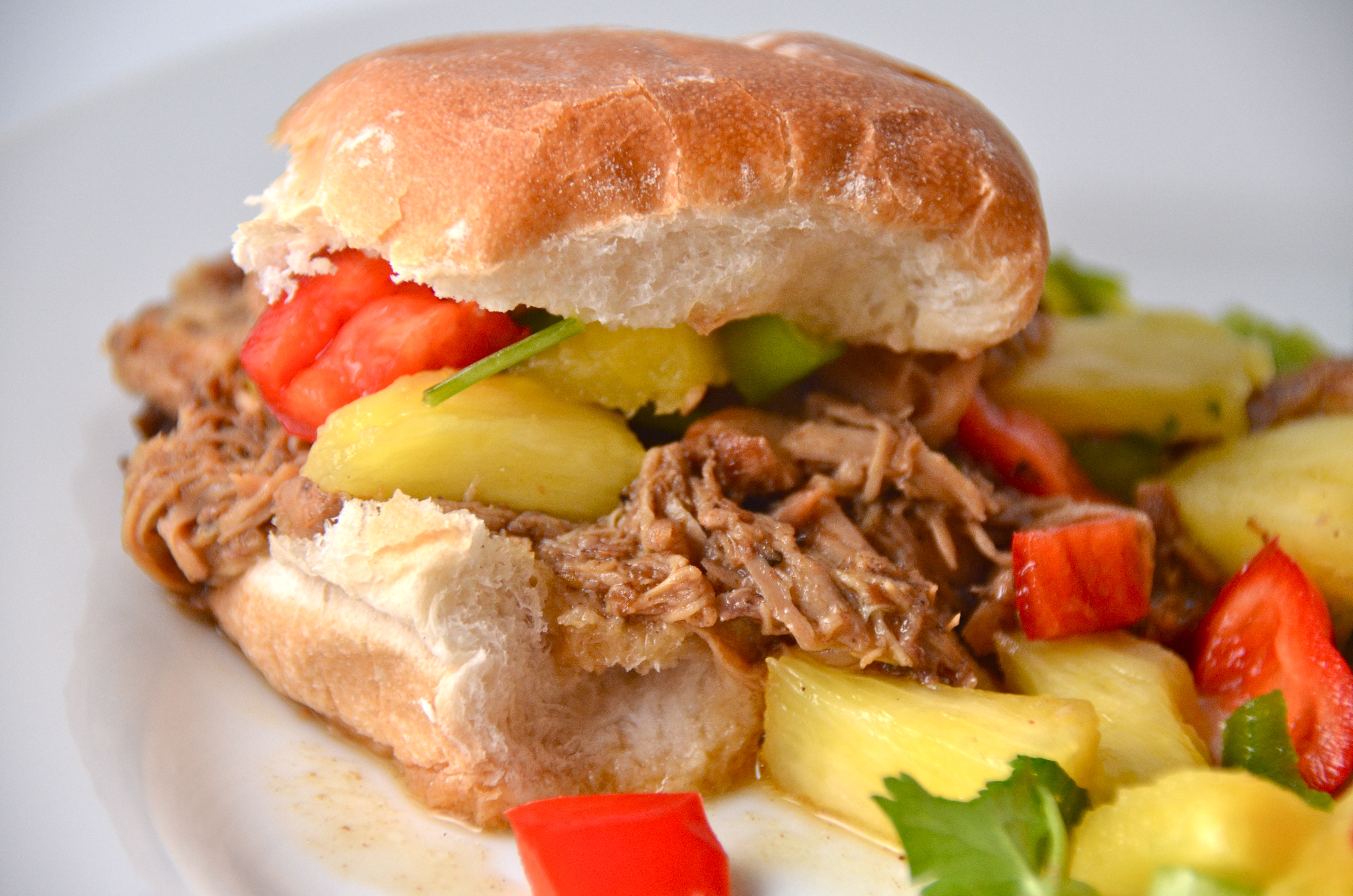 Jamaican Jerk Chicken Sliders With Pineapple Salsa. New Music From The ...