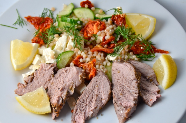 Greek Pork Tenderloin With Israeli Couscous