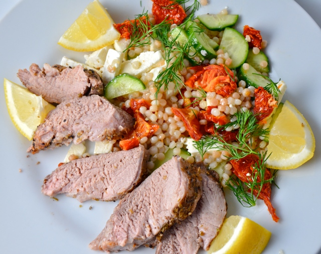 Greek Pork Tenderloin With Israeli Couscous