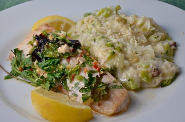 Lemon Parsley Fish With Green Rice