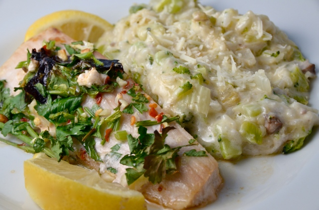 Lemon Parsley Fish And Green Rice