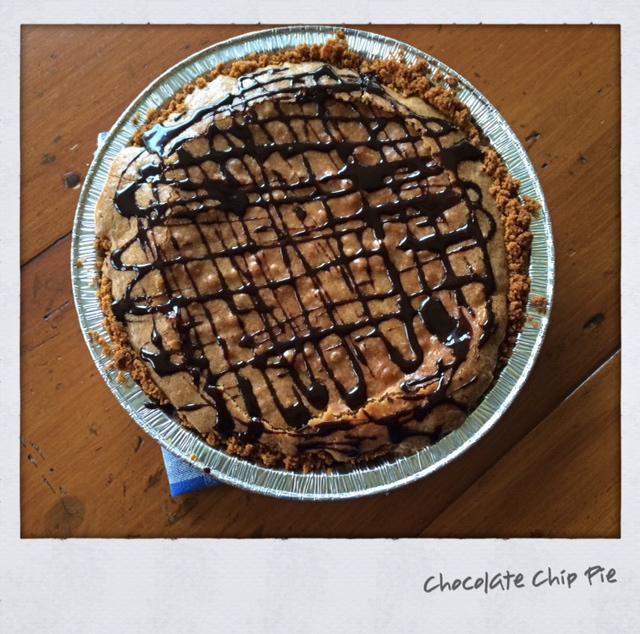 Chocolate Chip Cookie Pie With Graham Cracker Crust