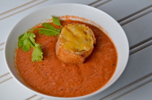 Creamy Tomato Soup With Souffled Cheese Toasts Recipes — Dishmaps