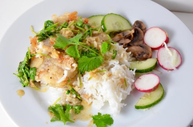 Lime-Cilantro Tilapia With Cilantro-Coconut Rice