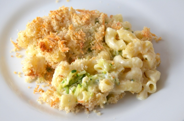 Zucchini Mac 'N' Cheese With Garlic Sourdough Crumbs