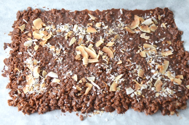 Crunchy Chocolate Coconut Bark