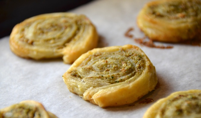 Olive-Almond Puff Pastry Pinwheels