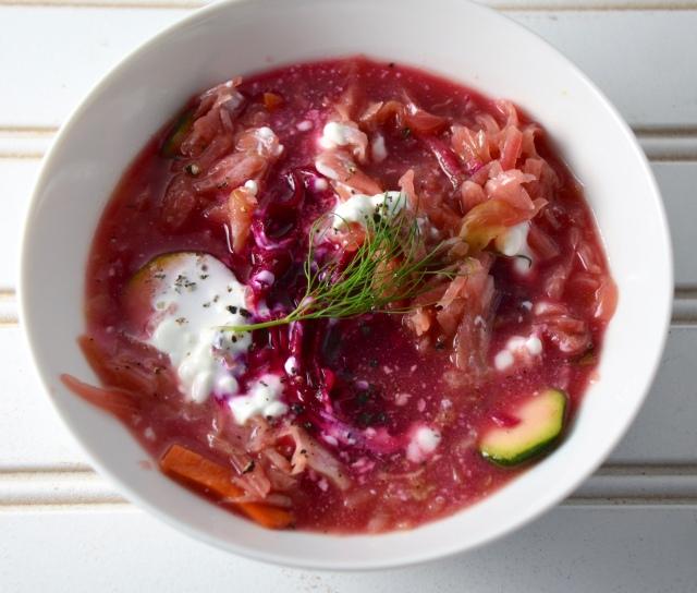 Beet-Zucchini Soup