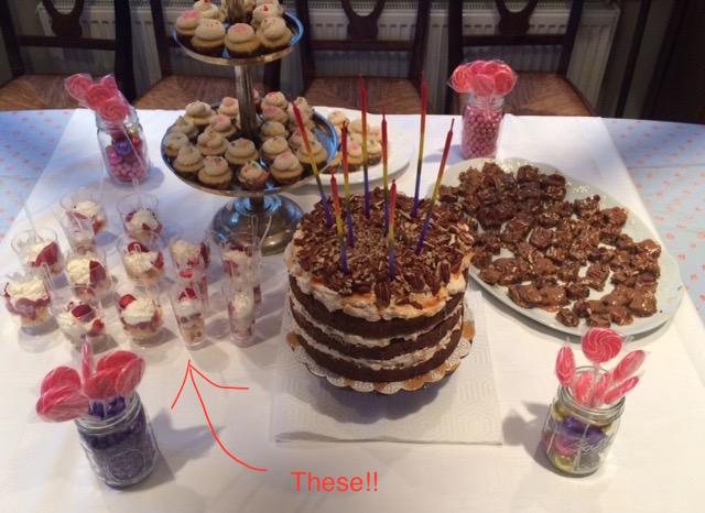 Carole's BD dessert buffet