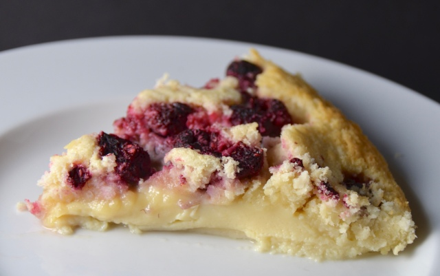 Lemon, Coconut And Raspberry Impossible Pie