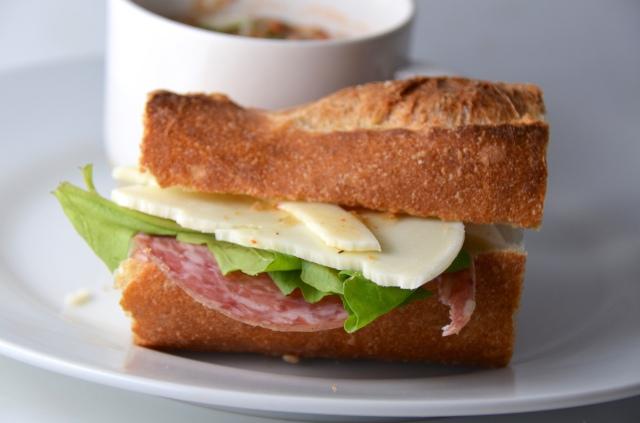 Pasta Fazool And Soppressata Sandwiches