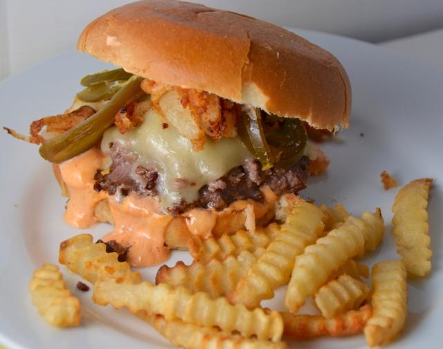 Sriracha Cheeseburger