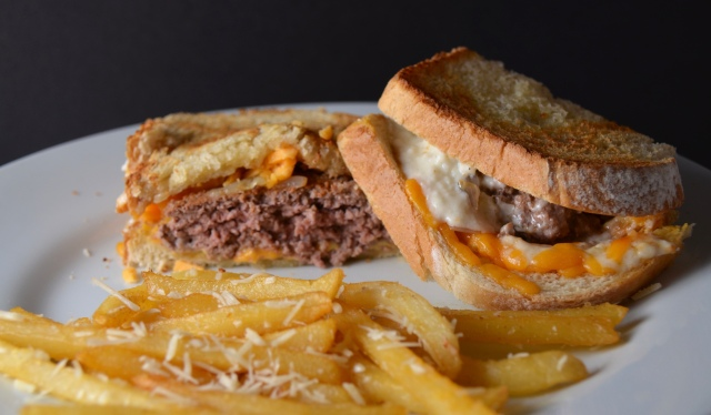 Kronnerburger Patty Melt With Parmesan & Garlic Fries