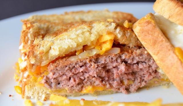 Kronnerburger Patty Melt With Parmesan & Garlic Fries