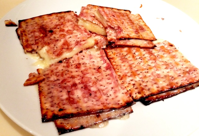 Drunken Passover Grilled Cheese