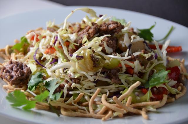Ground Beef Chow Mein