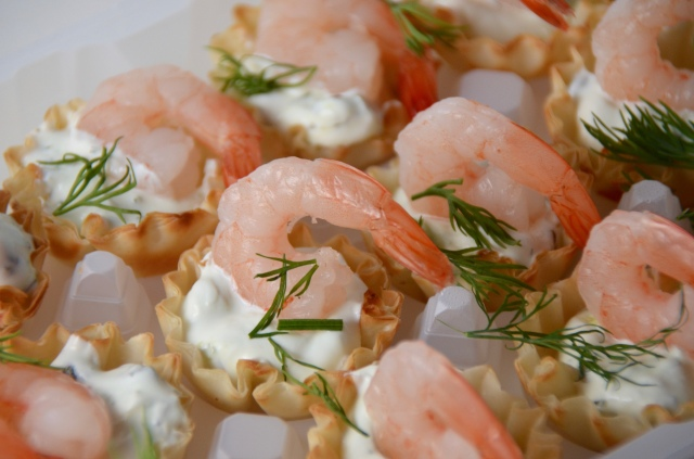 Caper Shrimp Phyllo Tarts