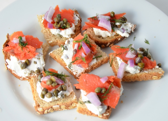 Smoked Salmon With Caper Cream Cheese