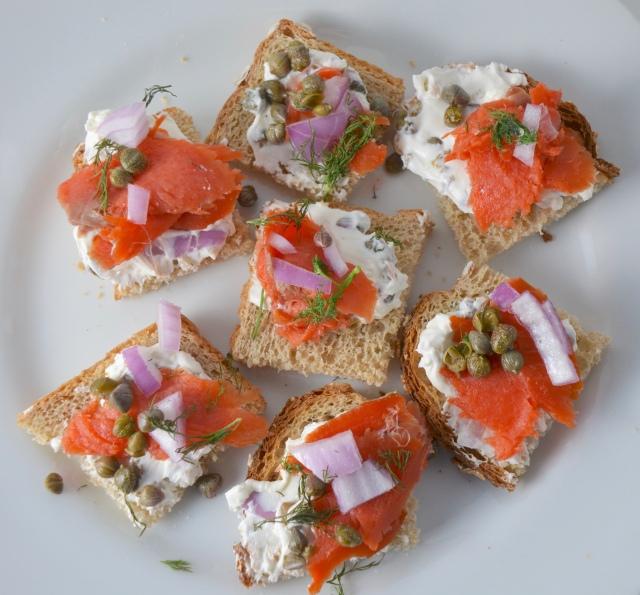 Smoked Salmon With Caper Cream Cheese