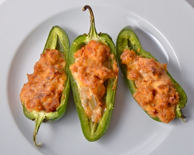 chicken enchilada stuffed jalapeños