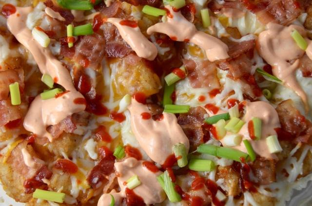 Cheesy Bacon Tater Tot Pie