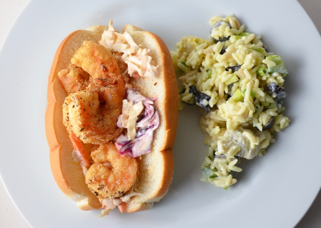 Shrimp Po'Boys With Artichoke Rice Salad