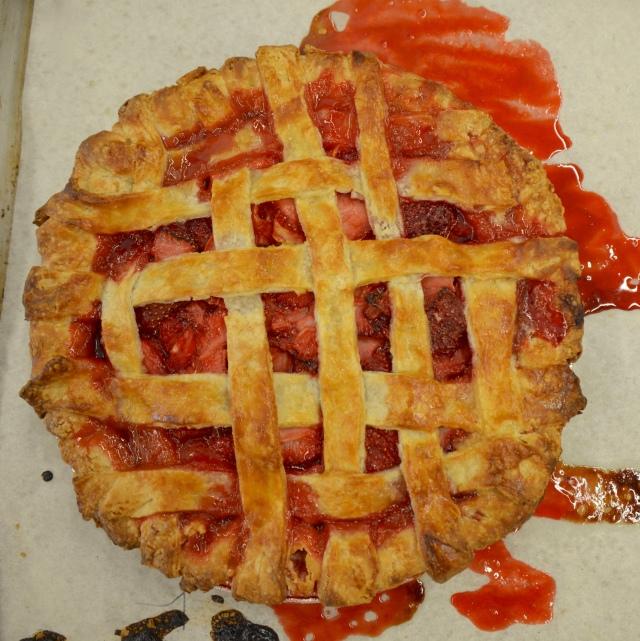 Strawberry Lemon Ginger Pie