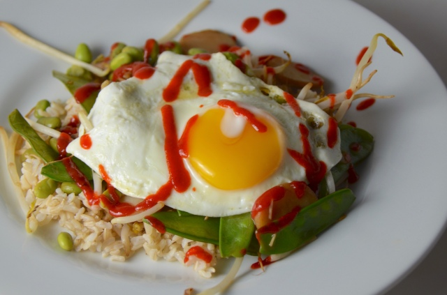 Rice Bowls With Fried Eggs